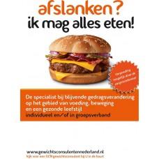 """Flyer Hamburger """"ik mag alles eten"""""""